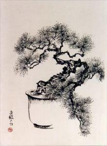 Bonsai Print Sumi-e