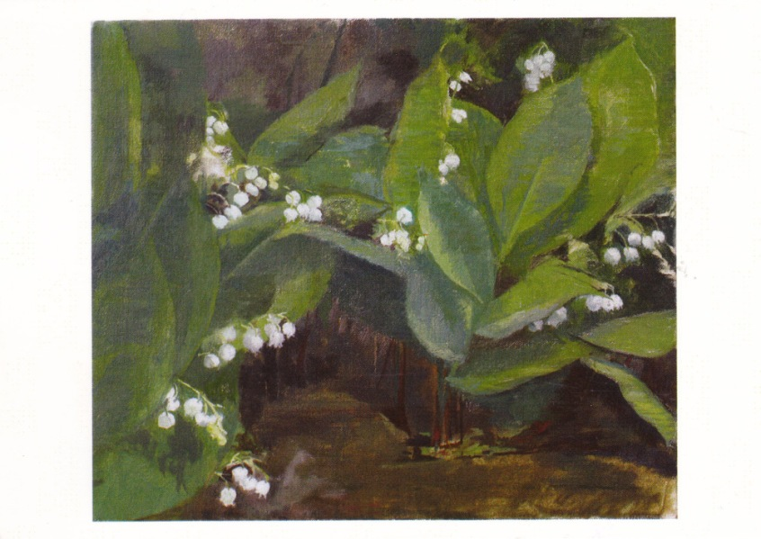Painting of Lily of the Valley, 2009, Charlotte Verity.