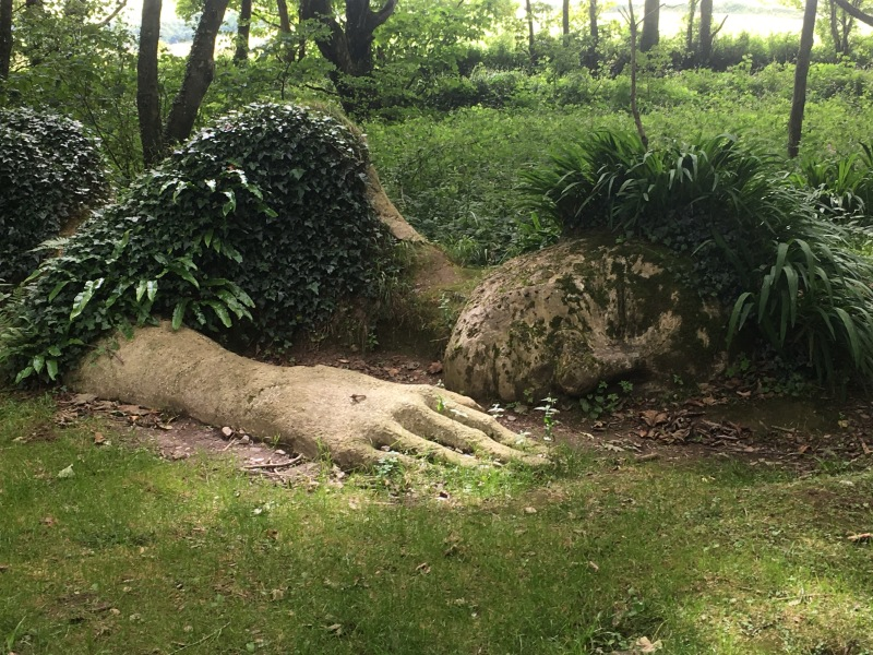 Mud Maid sculpture, at the Lost Gardens of Heligan, Cornwall, England