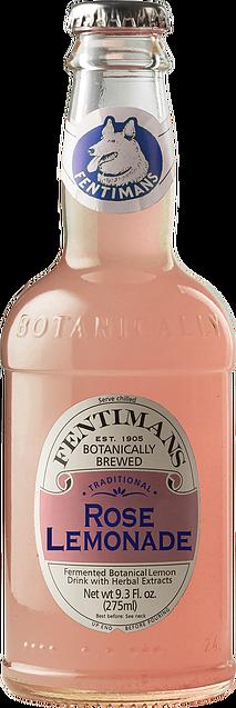 Bottle of Fentiman's pink Rose Lemonade soft drink