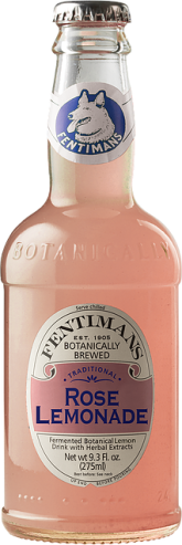 Bottle of Fentiman's pink Rose Lemonade soft drink
