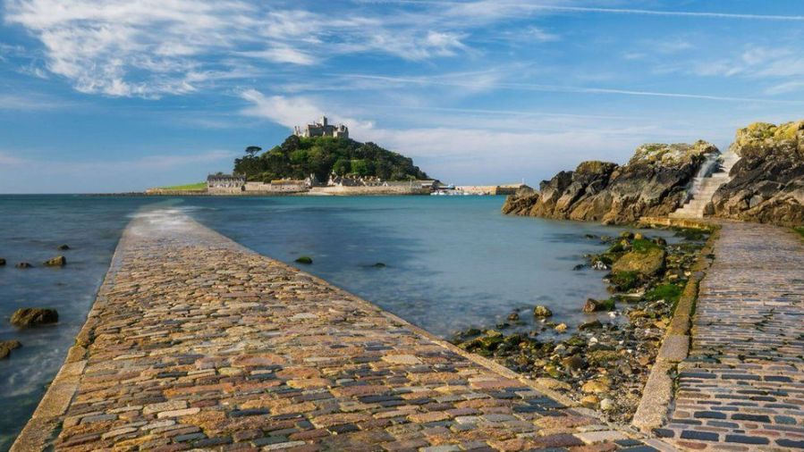 Saint Michael's Mount, Cornwall UK; image from www.bbc.com.
