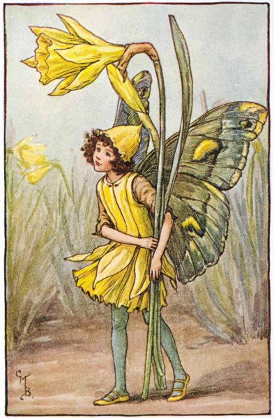 Cicely Mary Barker, The Daffodil Fairy, www.flowerfairies.com